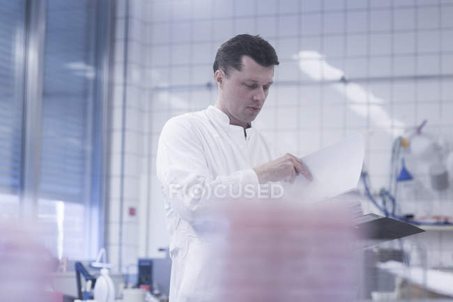 Scientist working in laboratory — Stock Photo