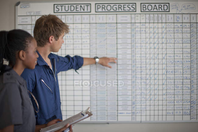 Студентські пілоти перевірка хід Ради — стокове фото