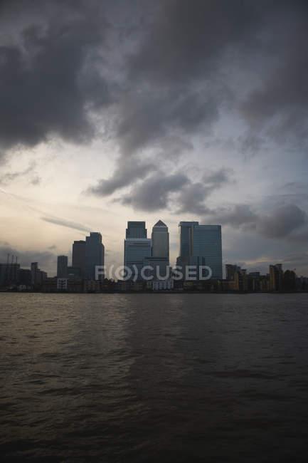 Далеких подання Кенері-Уорф, Лондон, Великобританія — стокове фото