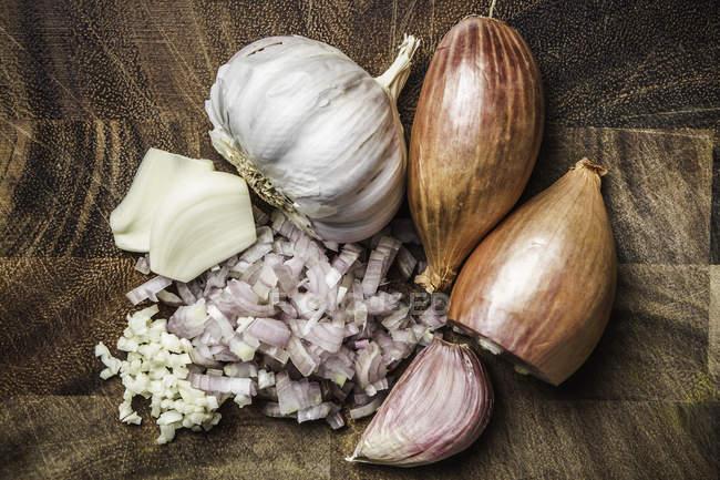 Ingredientes para fazer curry verde colar — Fotografia de Stock