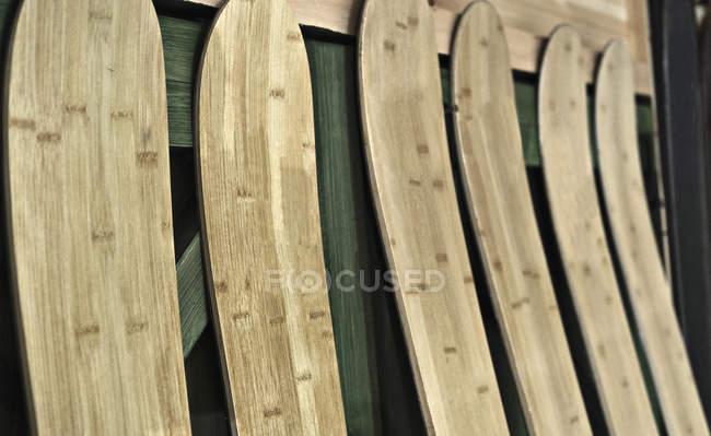 Skier in der Skiherstellung — Stockfoto