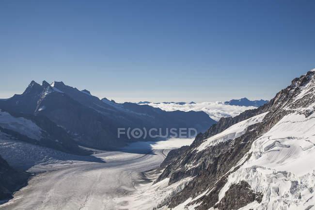 Vue d'Aletsch vitrier — Photo de stock