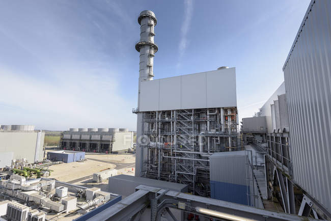View of gas-fired power station during outage — Stock Photo