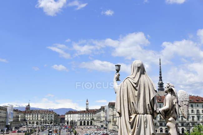 Piazza Vittorio Veneto e Mole Antonelliana, Torino, Piemonte, Italia — Foto stock
