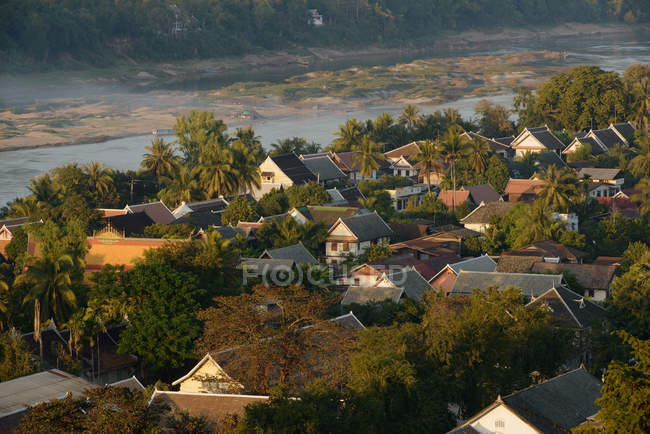 View of Mekang and Nam Khan rivers — Stock Photo