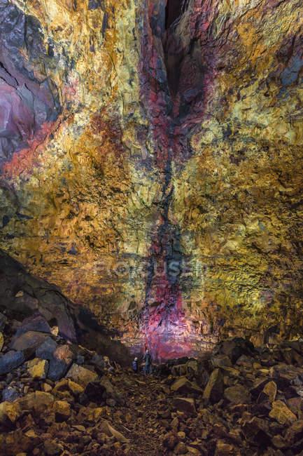 В середині вулкана, Блефат, Ісландія — стокове фото