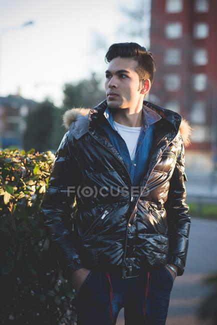Young man wearing jacket — Stock Photo
