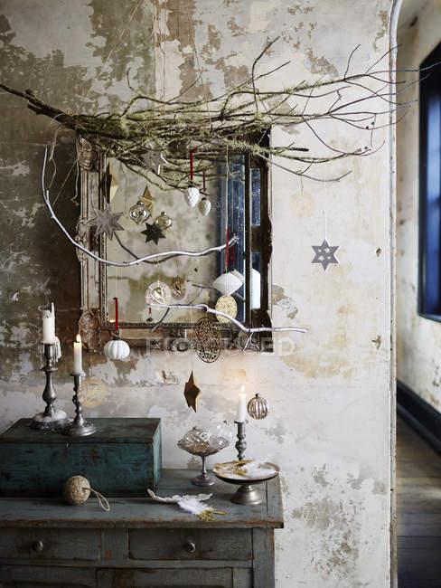 Natal inspirado cena em casa — Fotografia de Stock