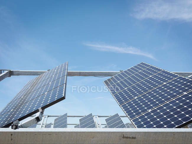 Solar power station showing front panels — Stock Photo