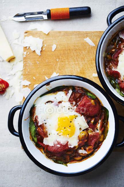 Ranchers eggs breakfast — Stock Photo
