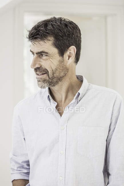 Portrait of Mature man looking away — Stock Photo