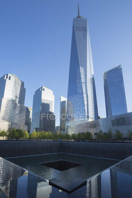 Меморіал 11 вересня & музей, Нью-Йорк, США — стокове фото
