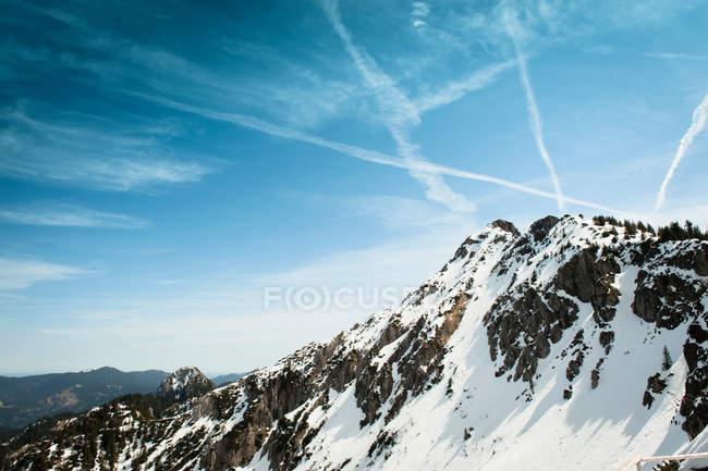 German Alps overlooking rural landscape — Stock Photo