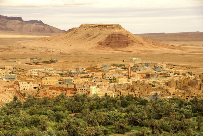 Schlamm-Häuser, Kasbah Ait Bujan, Todra Schlucht, Dades Tal, Marokko — Stockfoto