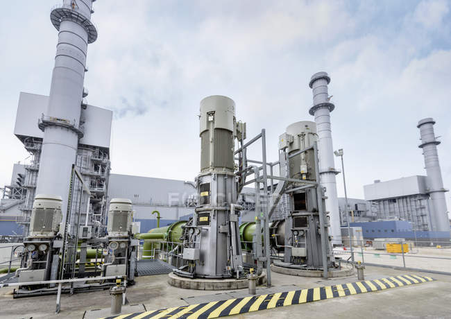 Station de pompage à la centrale au gaz — Photo de stock