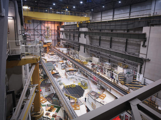Reactor hall in nuclear power station, high angle view — Stock Photo