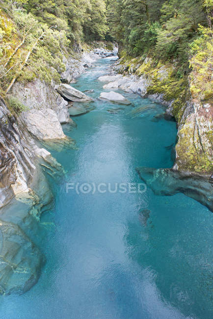 Blauen Pools von Haast Pass, Mount Aspiring Nationalpark, Südinsel, Neuseeland — Stockfoto
