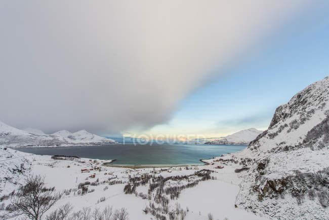 Vista panorâmica do fiorde, Tromso, Noruega — Fotografia de Stock