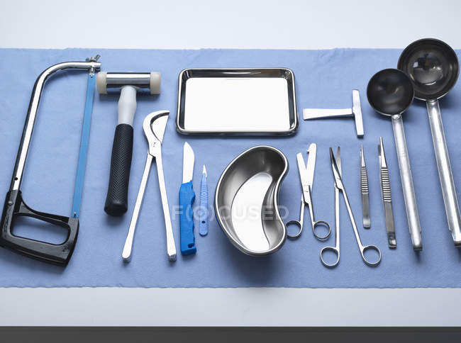 Pathology equipment ready for a autopsy in a laboratory — Stock Photo