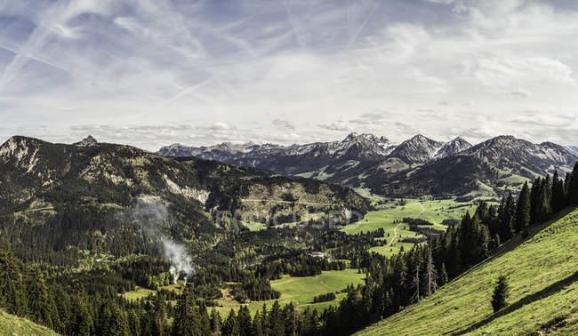Vue panoramique près du Mont Zinken, Oberjoch, Bavière, Allemagne — Photo de stock