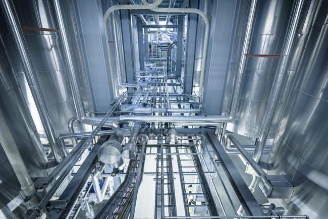 Танки і труб в олії, змішування завод, Антверпен, Бельгія, Європа — стокове фото