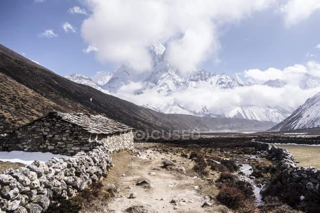 Vue panoramique du trek du mont Everest, Népal — Photo de stock