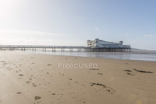 Muelle de Weston super mare - foto de stock