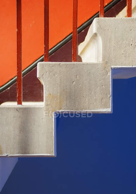 Close up of old multicolored stairway — Stock Photo