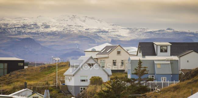 Häuser im Dorf von Stykkisholmur, Snaefellsnes, Island — Stockfoto