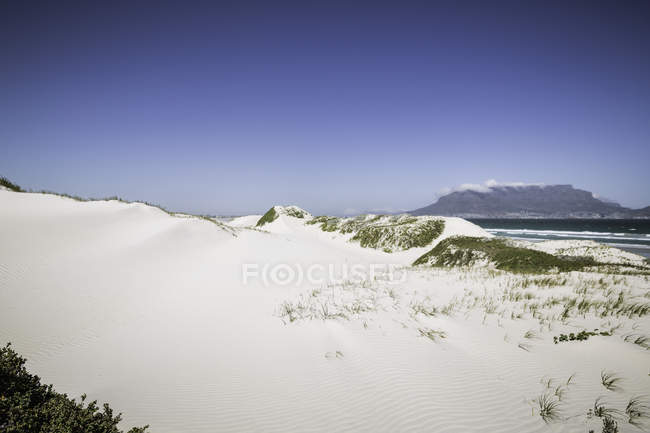 Scenic view of Deserted beach, Cape Town, South Africa — Stock Photo