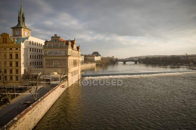 Vista do Rio Vltava em Praga, República Checa — Fotografia de Stock
