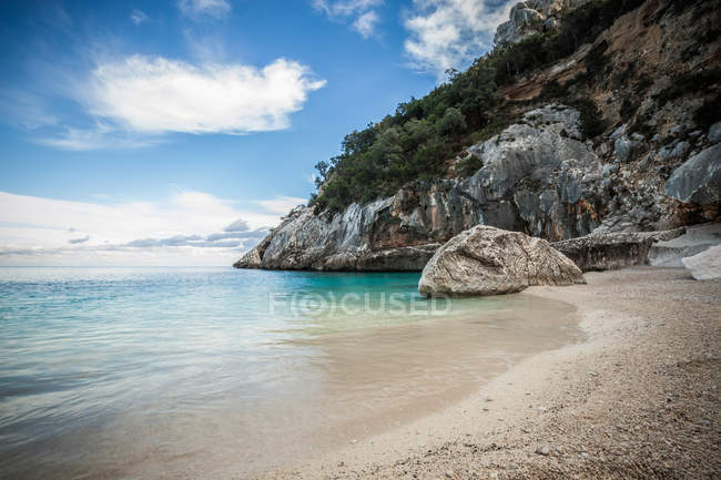 Coastline and rocky beach, Ogliastra, Sardinia, Italy — Stock Photo