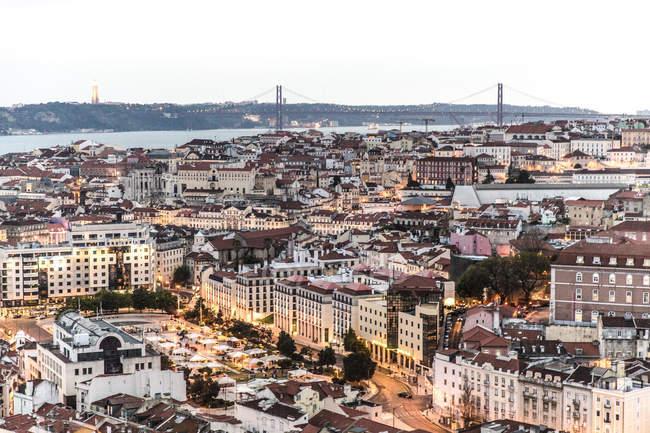 Praca Martim Moniz, Lisbon, Portugal — Stock Photo