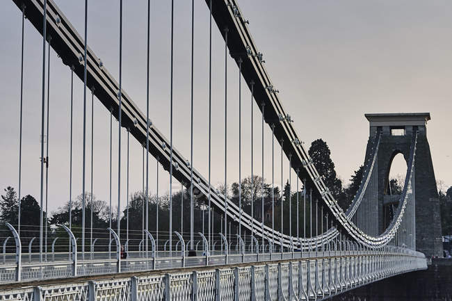 Ponte suspensa de Clifton sobre o Rio Avon, Bristol, Reino Unido — Fotografia de Stock