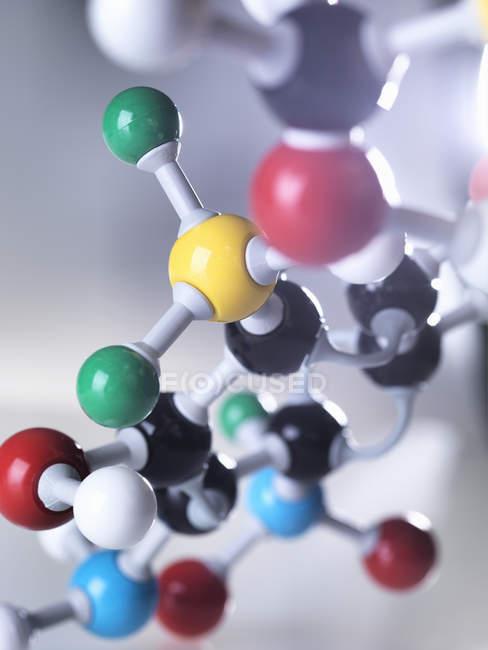 Modèle moléculaire, gros plan — Photo de stock