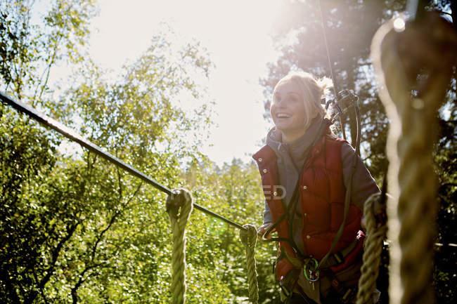 Outdoor sports et aventure accrobranches — Photo de stock