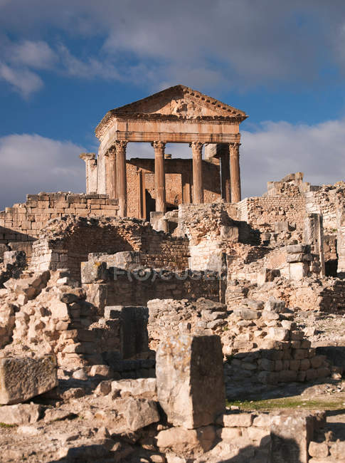 Ancienne ville romaine de Dougga — Photo de stock
