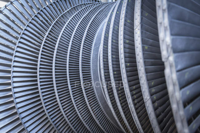 Detail of low pressure steam turbine — Stock Photo