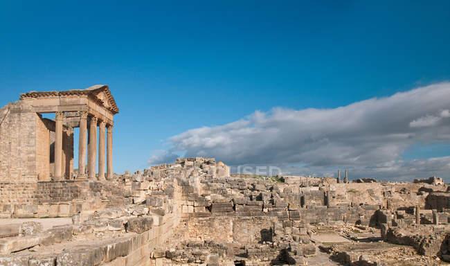 Стародавнього римського міста Dougga — стокове фото