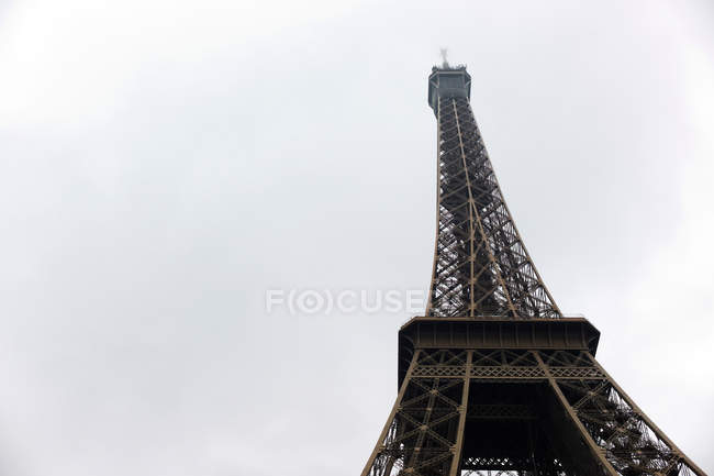 Bottom view of Eiffel Tower, Paris, France — Stock Photo