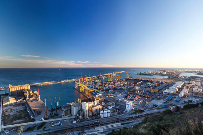 View of commercial port — Stock Photo
