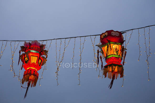 Chinese New Year lanterns, Macau, China — Stock Photo