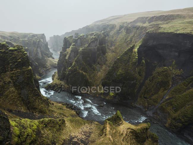 View of river and canyon at Fjadrargljufur, Iceland — Stock Photo