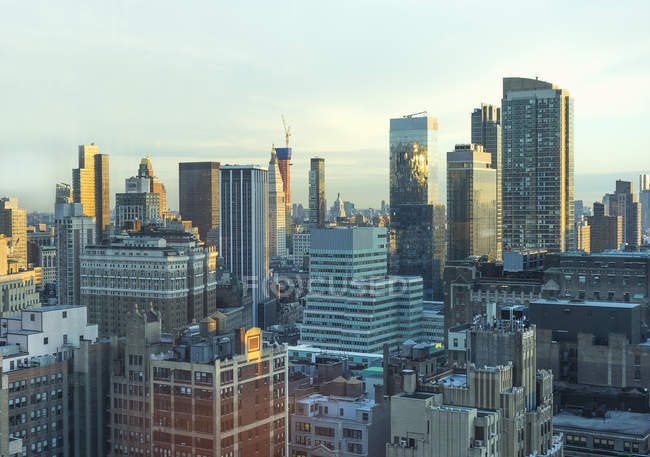 Aerial view of Cityscape New York, USA — Stock Photo