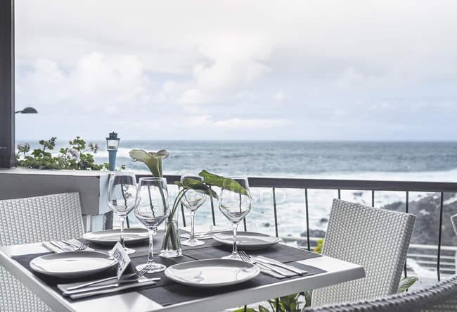 Garachico Restaurant, Teneriffa, Kanarische Inseln, Spanien — Stockfoto