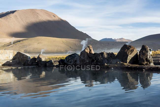 Heißen Quellen, el Tatio Geysir, San Pedro de Atacama, Chile — Stockfoto