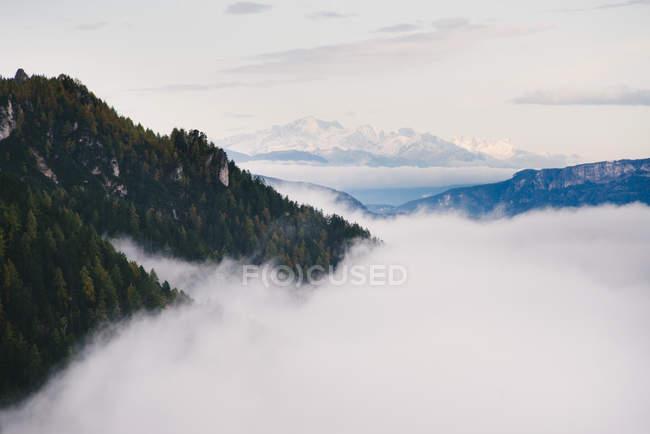 Vista panorâmica de Seiser Alm, sul do Tirol, Alpes Dolomitas, Itália — Fotografia de Stock