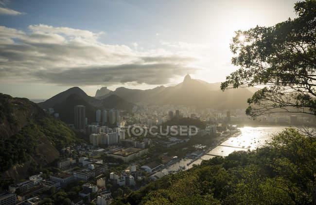 Vue aérienne du mont Sugarloaf, Rio De Janeiro, Brésil — Photo de stock