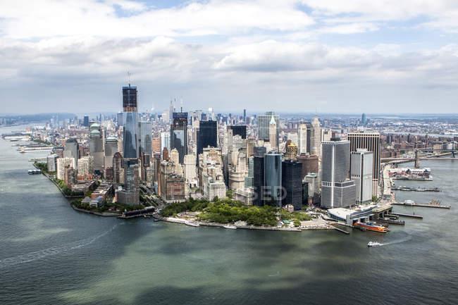 Aerial view of Manhattan, New York City, USA — Stock Photo