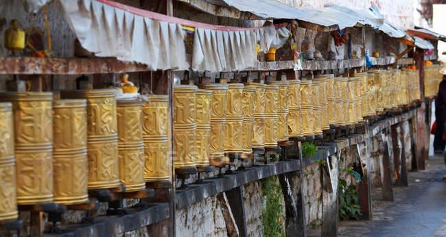 Bateria de oração montada em parede — Fotografia de Stock